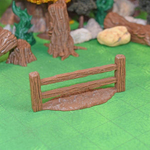 Village - Wood Fence - FDM Print - Fat Dragon Games