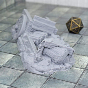 Wagon Cart Rubble - FDM Print - Hayland Terrain