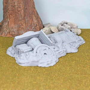 Wagon Cart Rubble With Dead Animal - FDM Print - Hayland Terrain