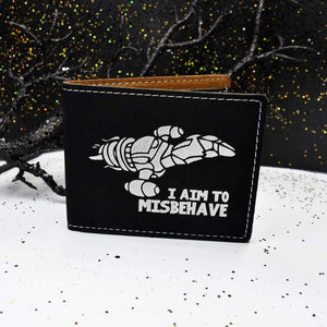 Wallet Bifold - I Aim to Misbehave - Accessories - GriffonCo