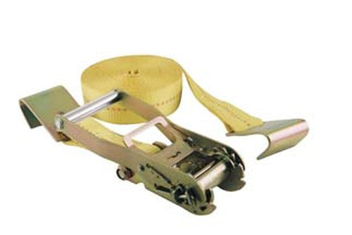 Yellow Flat Hook Ratchet Strap 2x27 Farm & Ranch - Truck & Trailer Accessories - Ties Teskeys Teskeys