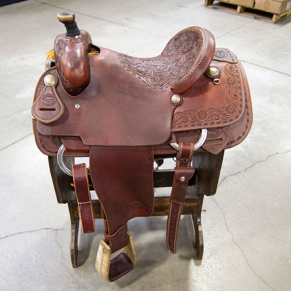 "15"" TESKEY'S CALF ROPING SADDLE Saddles - New Saddles - ROPER Teskey's Teskeys"