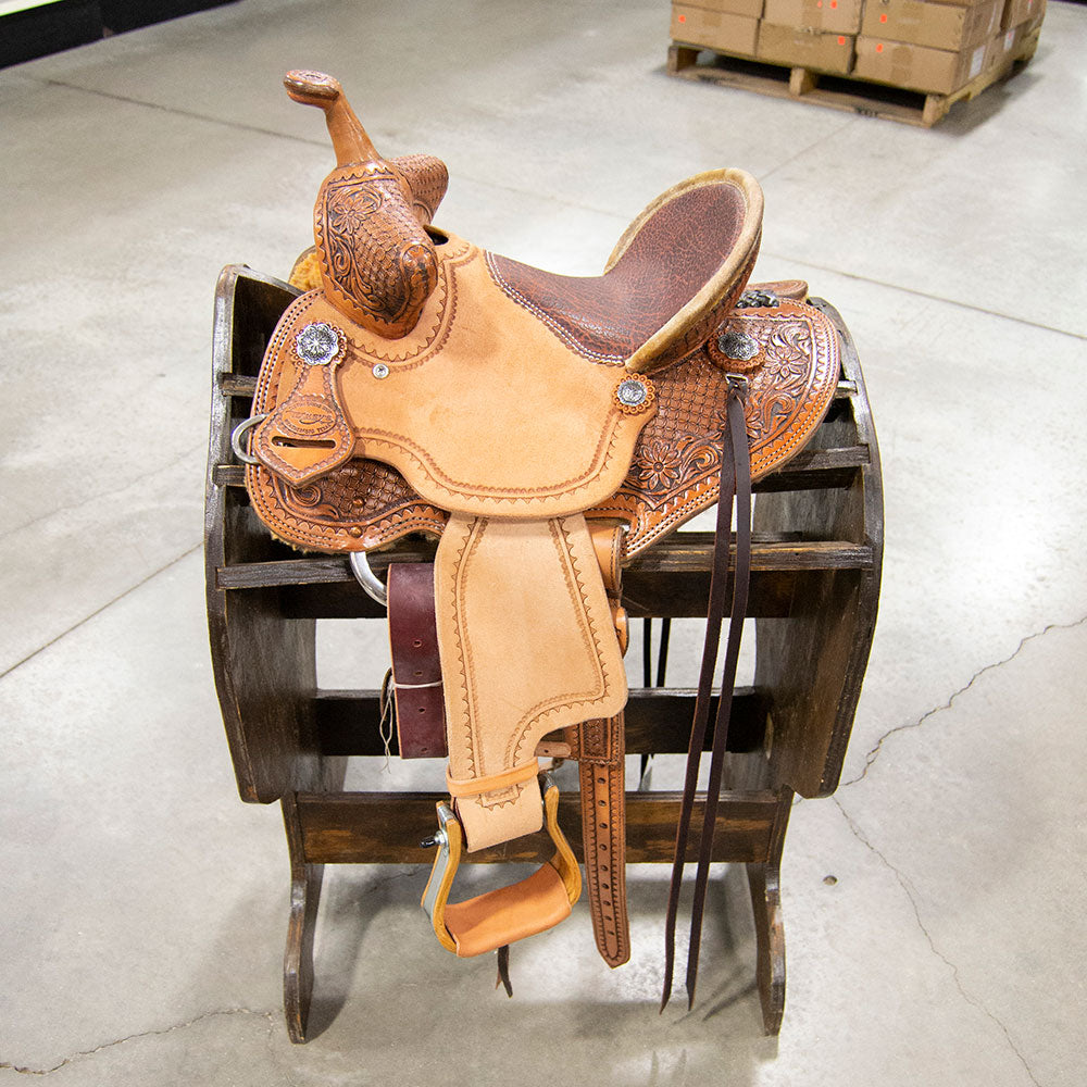 "12"" TESKEY'S BARREL SADDLE Saddles - New Saddles - BARREL Teskey's Teskeys"