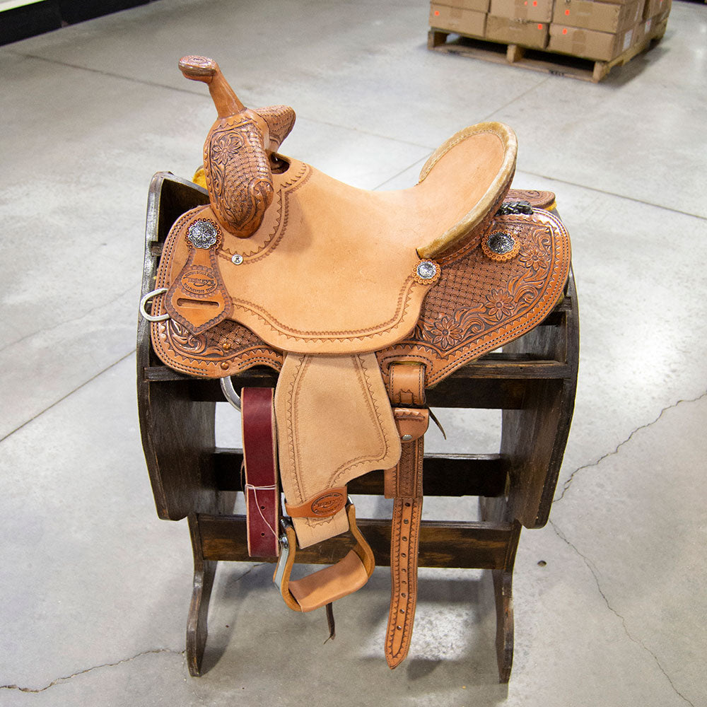 "12.5"" TESKEY'S BARREL SADDLE Saddles - New Saddles - BARREL Teskey's Teskeys"