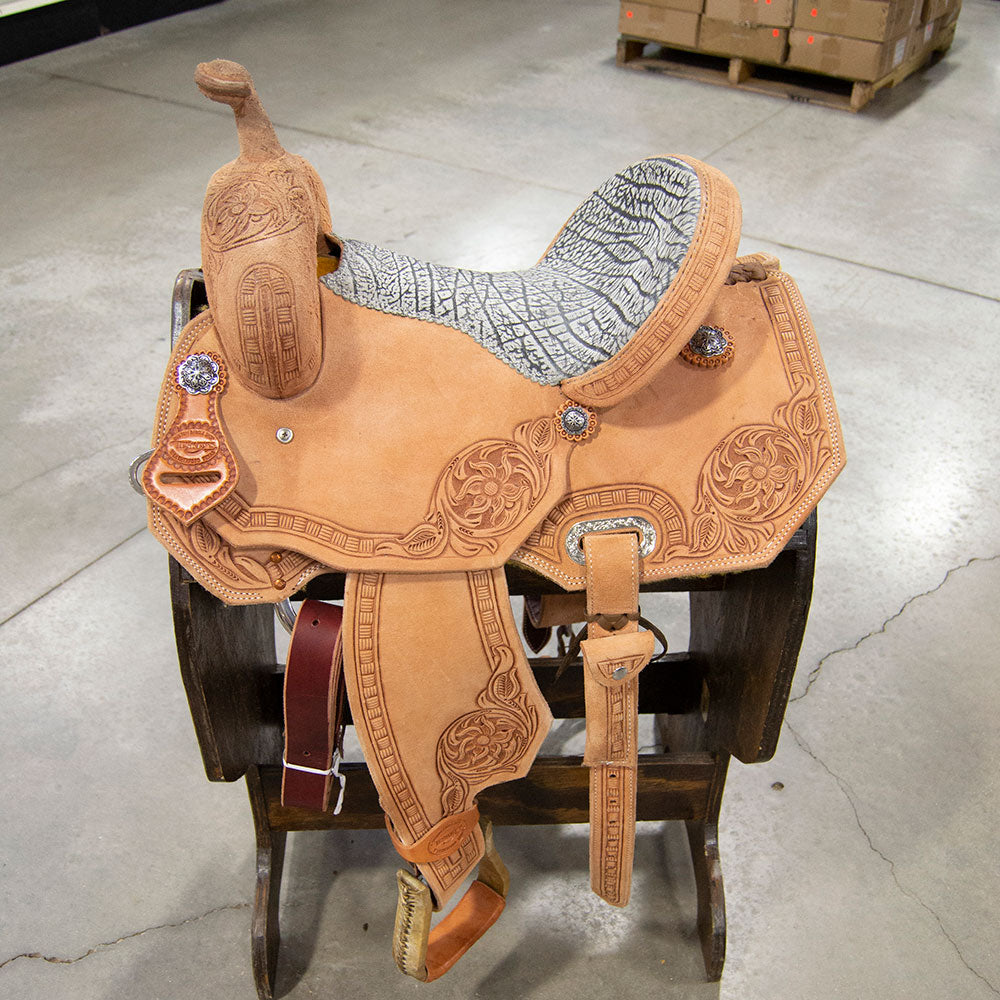13.5 TESKEY'S BARREL SADDLE