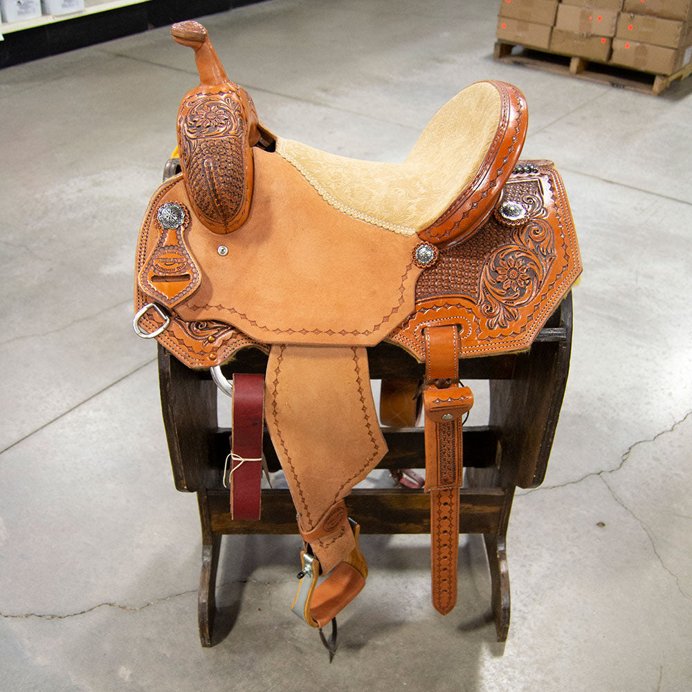 "14"" TESKEY'S BARREL SADDLE Saddles - New Saddles - BARREL Teskey's Teskeys"