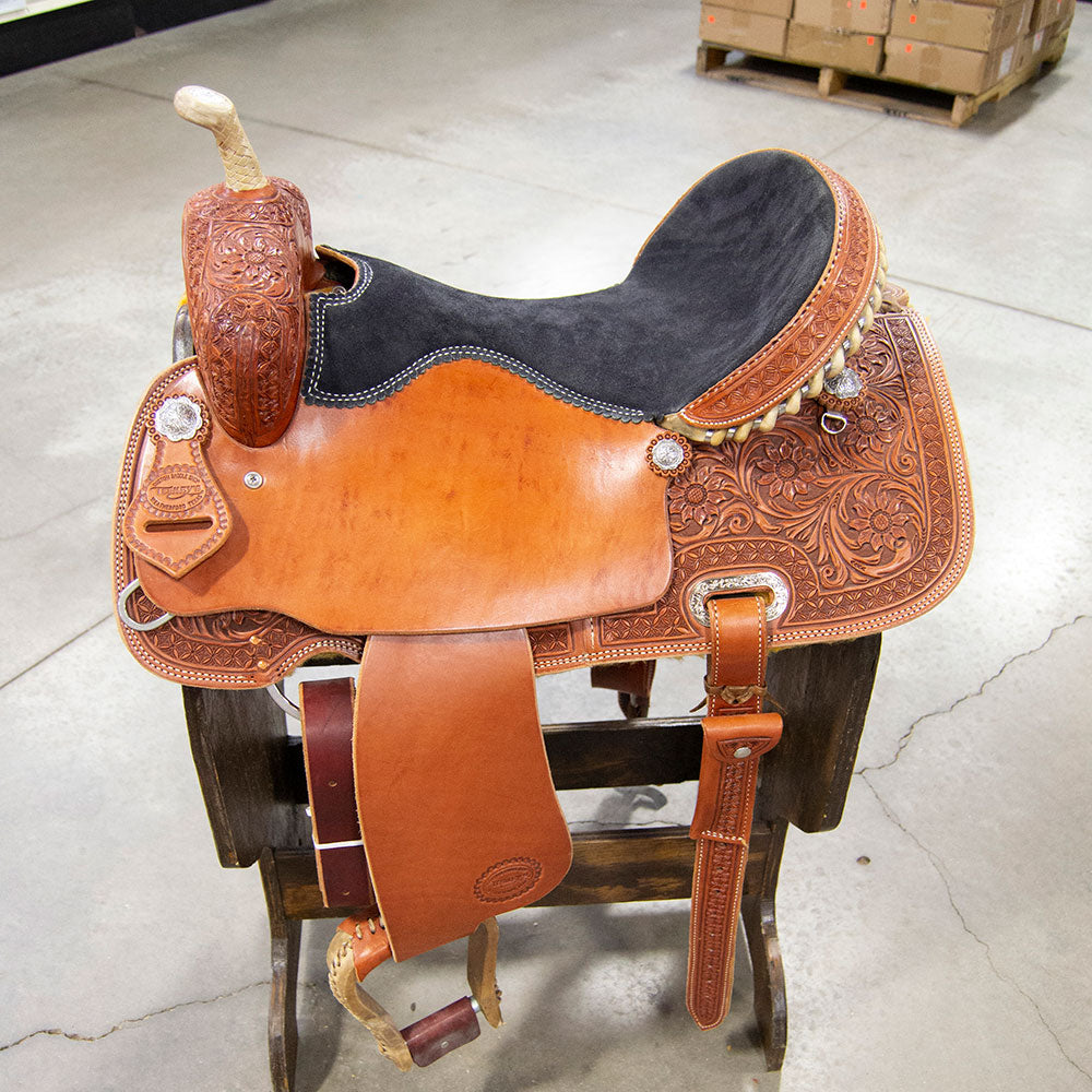 "17"" TESKEY'S BARREL SADDLE Saddles - New Saddles - BARREL Teskey's Teskeys"