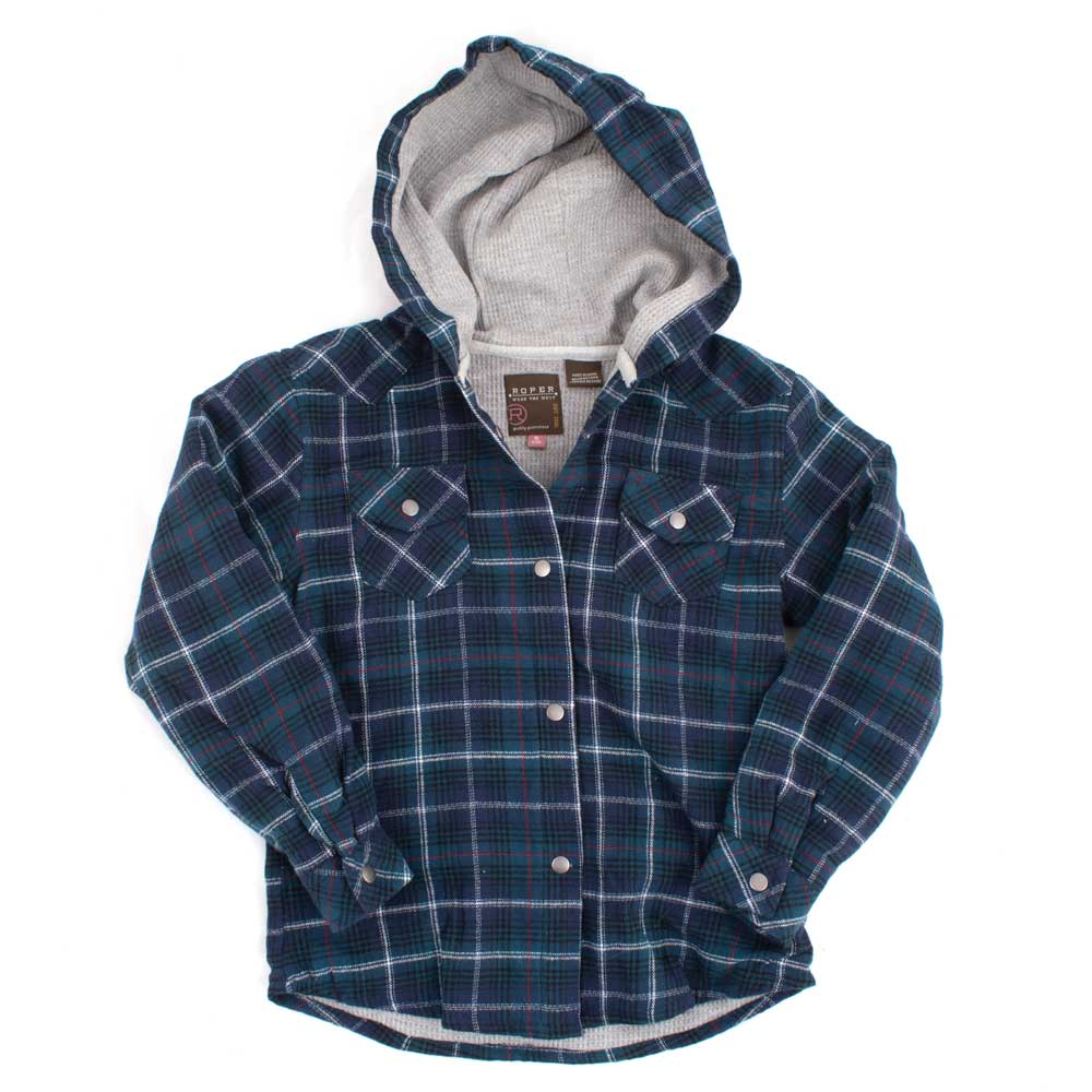 Roper Girl's Plaid Flannel Jacket KIDS - Girls - Clothing - Outerwear - Jackets ROPER APPAREL & FOOTWEAR Teskeys