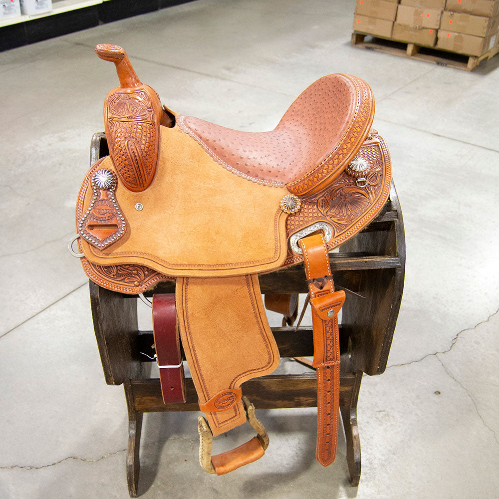 "14.5"" TESKEY'S BARREL SADDLE Saddles - New Saddles - BARREL Teskey's Teskeys"