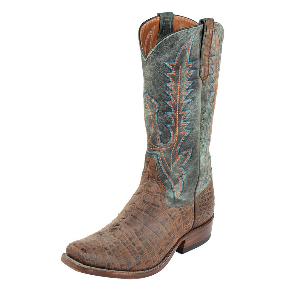 Rios of Mercedes Nile Croc Hornback Boot MEN - Footwear - Exotic Western Boots RIOS OF MERCEDES BOOT CO. Teskeys