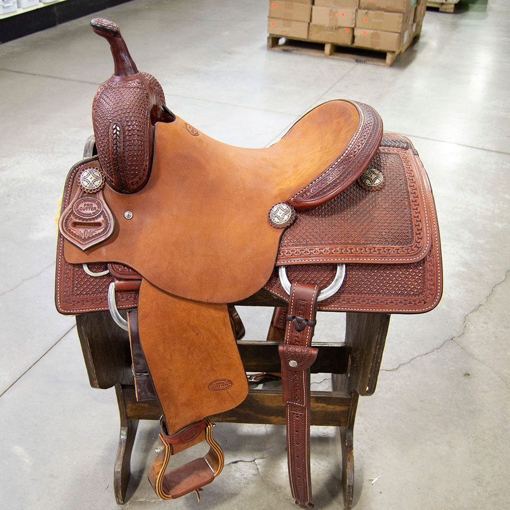 "15"" TESKEY'S PRO CUTTING SADDLE Saddles - New Saddles - CUTTER Teskey's Teskeys"