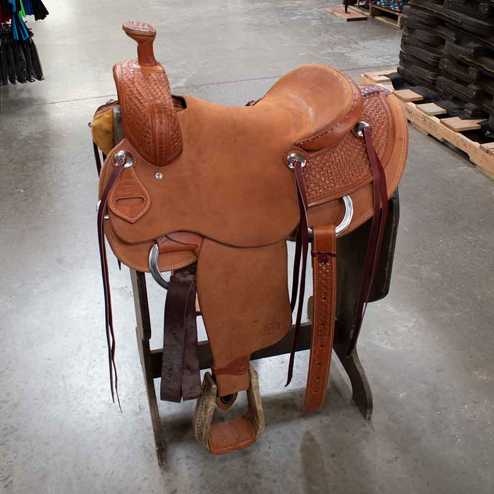 "14.5"" TESKEYS RANCH SADDLE Saddles - New Saddles - RANCH Teskeys Teskeys"