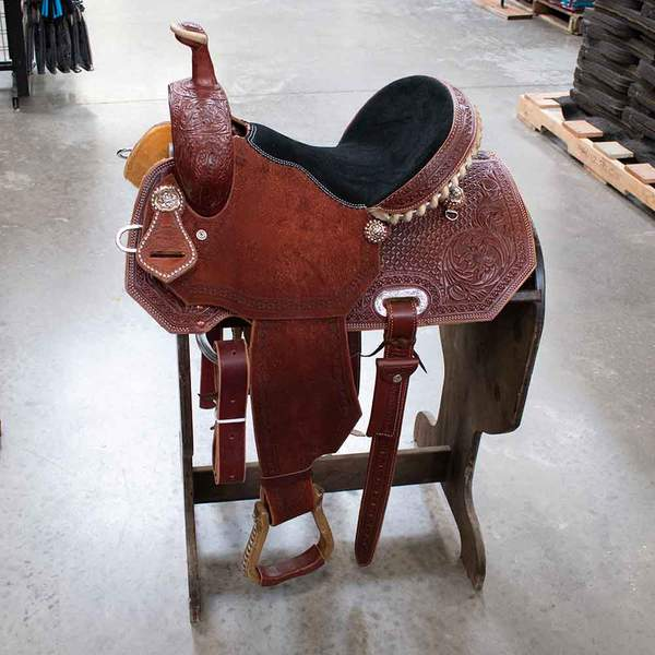 "13.5"" TESKEYS BARREL SADDLE Saddles - New Saddles - BARREL Teskeys Teskeys"