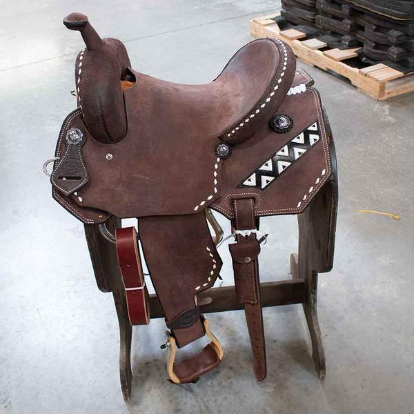 "14"" TESKEYS BARREL SADDLE Saddles - New Saddles - BARREL Teskeys Teskeys"