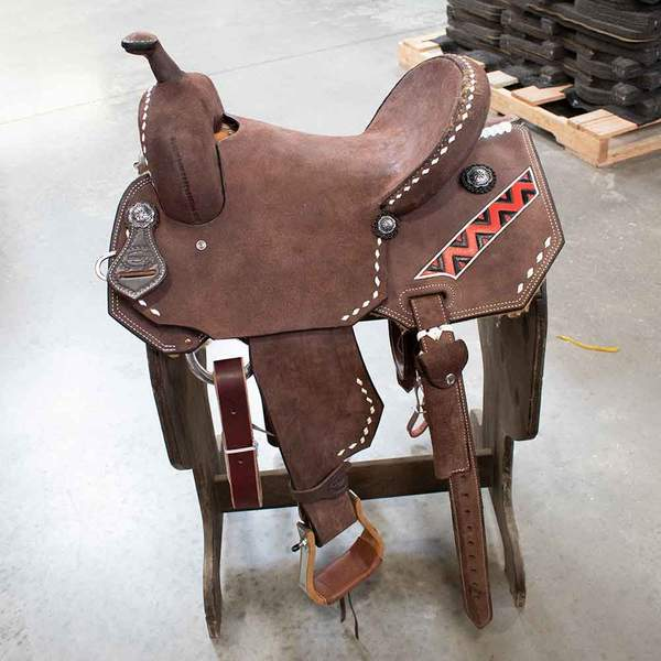 "14.5"" TESKEYS BARREL SADDLE Saddles - New Saddles - BARREL Teskeys Teskeys"