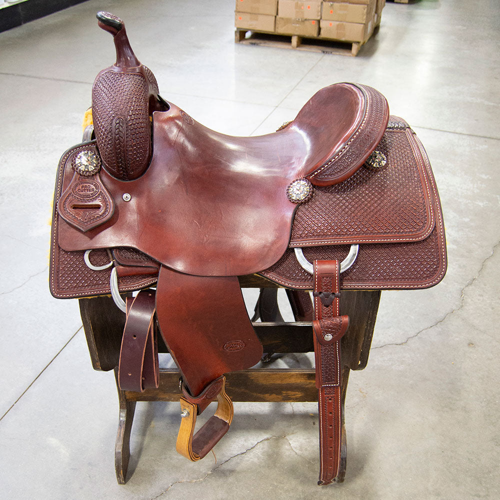 "15.5"" TESKEY'S PRO CUTTING SADDLE Saddles - New Saddles - CUTTER Teskey's Teskeys"