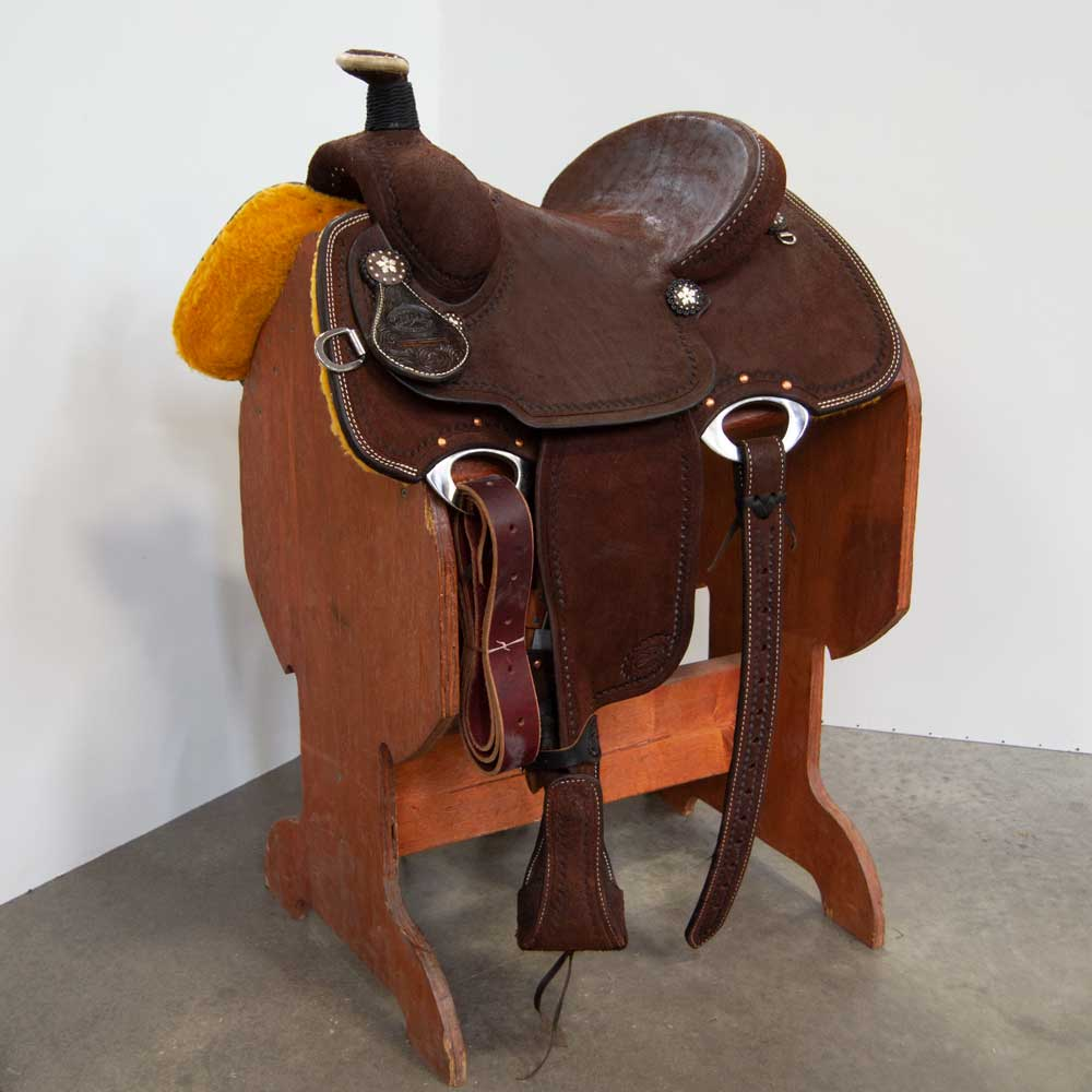 "13"" PATRICK SMITH LIGHTWEIGHT ROPING SADDLE"