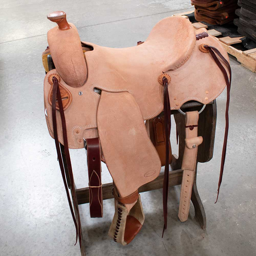 "16"" TESKEYS STRIPDOWN SEAT RIG RANCH SADDLE"