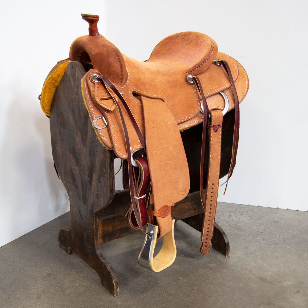 "16"" TESKEY'S SEAT RIG RANCH SADDLE Saddles - New Saddles - RANCH Teskey's Teskeys"
