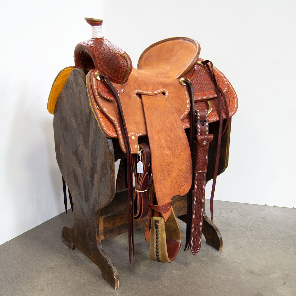 "14.5"" TESKEY'S RANCH SADDLE Saddles - New Saddles - RANCH Teskey's Teskeys"