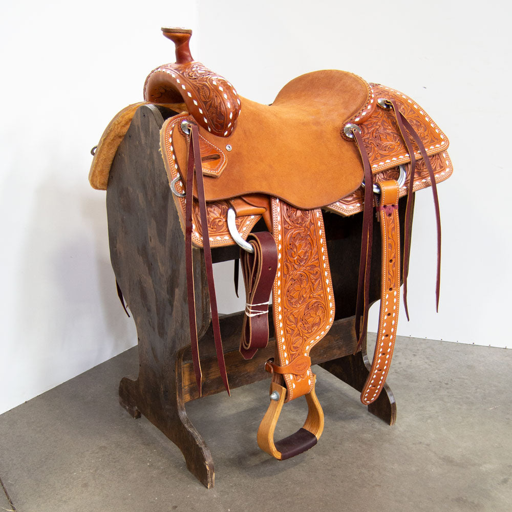 "15"" TESKEY'S RANCH SADDLE Saddles - New Saddles - RANCH Teskey's Teskeys"