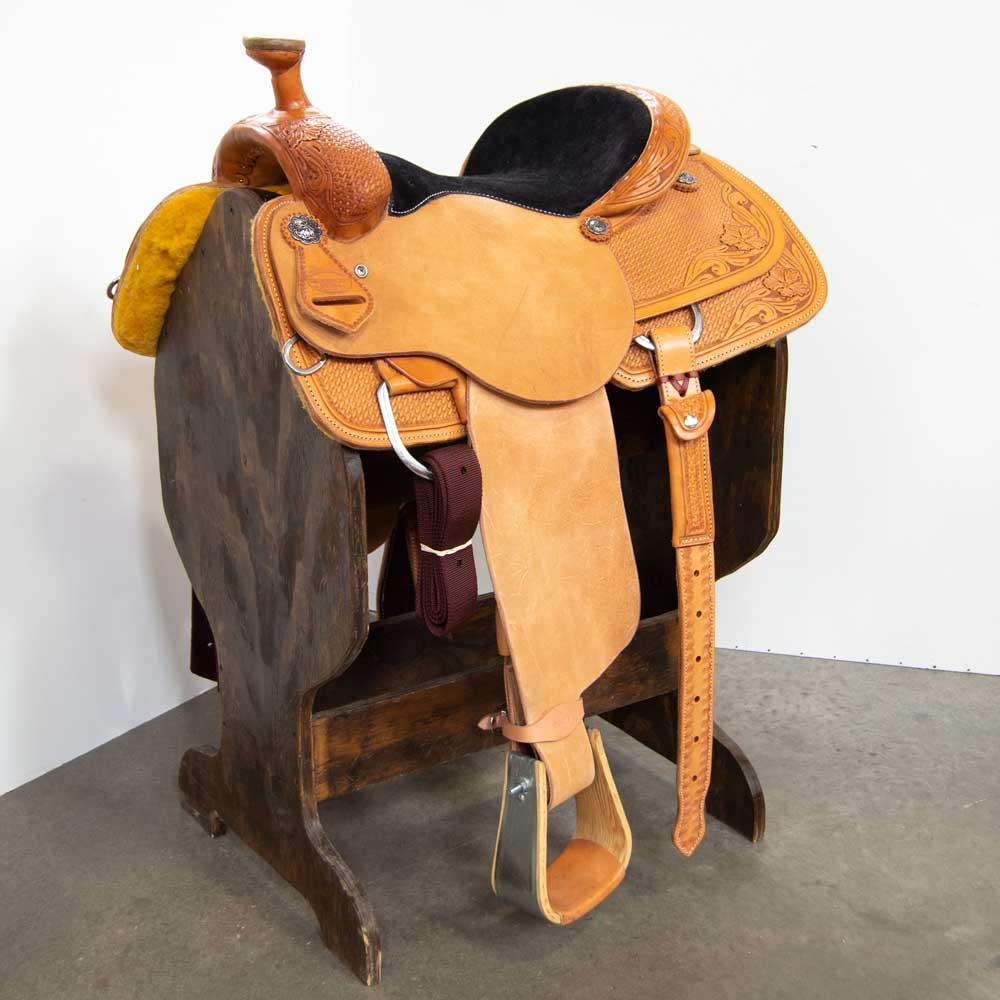 "15"" TESKEY'S COMPETITION SERIES ROPING SADDLE Saddles - New Saddles - ROPER Teskey's Teskeys"