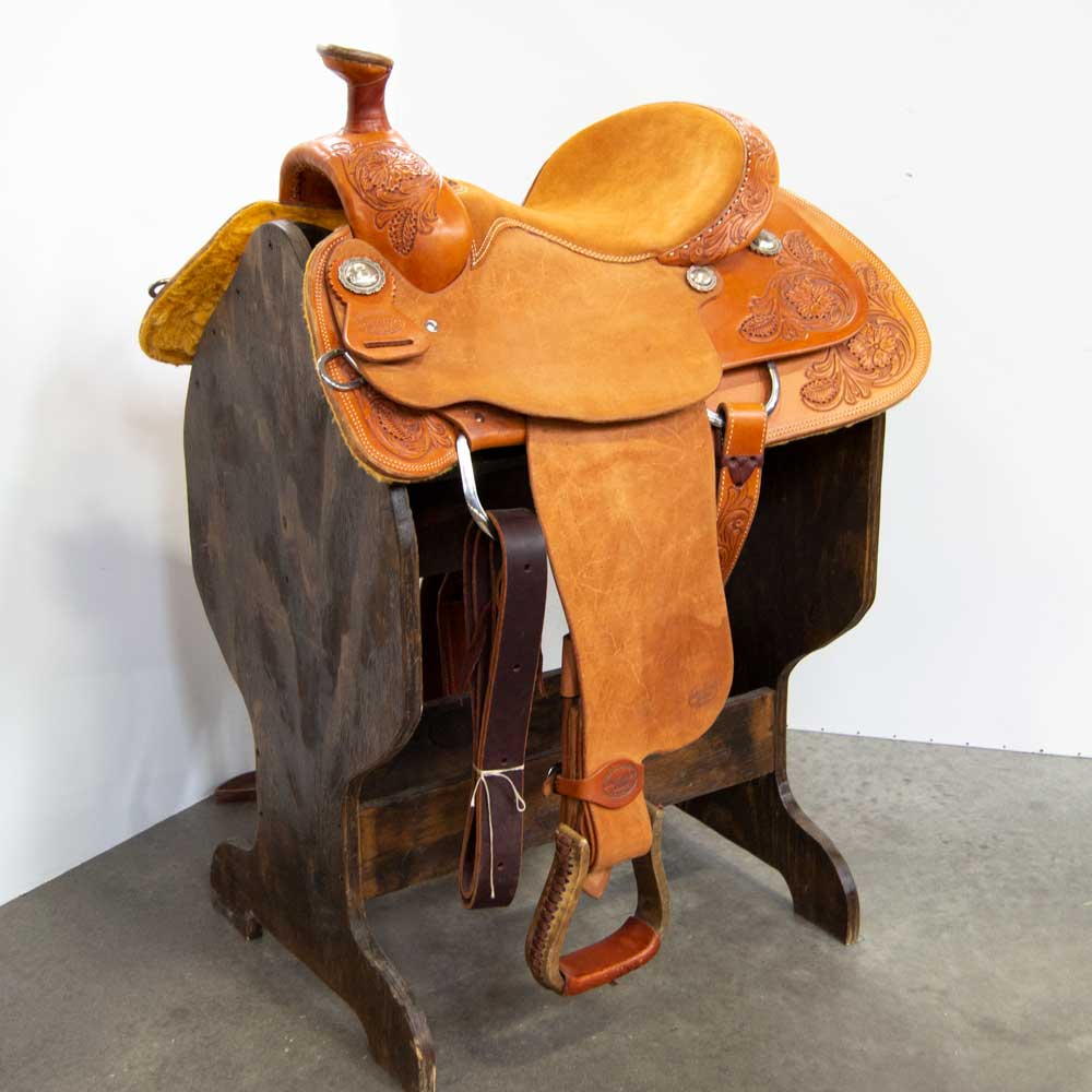 "14"" TESKEY'S COMPETITION SERIES ROPING SADDLE Saddles - New Saddles - ROPER Teskey's Teskeys"