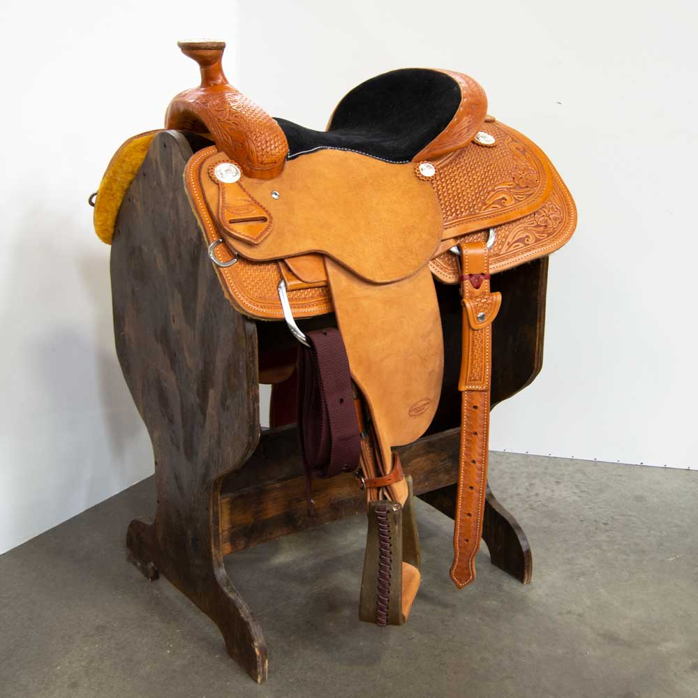 "14.5"" TESKEY'S COMPETITION SERIES ROPING SADDLE Saddles - New Saddles - ROPER Teskey's Teskeys"