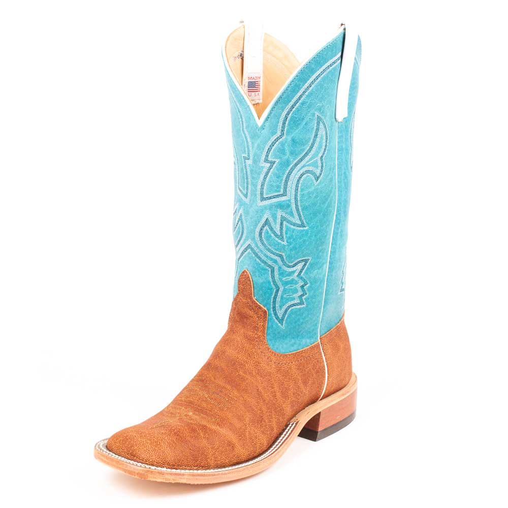 Anderson Bean Brick Oiled Elephant Boot MEN - Footwear - Exotic Western Boots Teskeys Teskeys