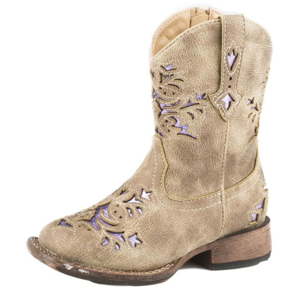 Kid's Infant Vintage Tan Lola Boot KIDS - Girls - Footwear - Boots ROPER APPAREL & FOOTWEAR Teskeys