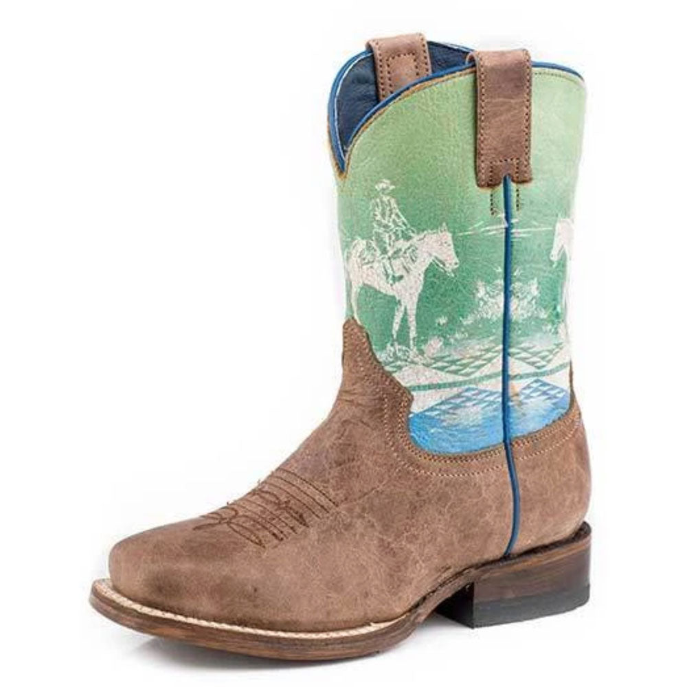 Kid's Roper Rider Leather Boots KIDS - Footwear - Boots ROPER APPAREL & FOOTWEAR Teskeys