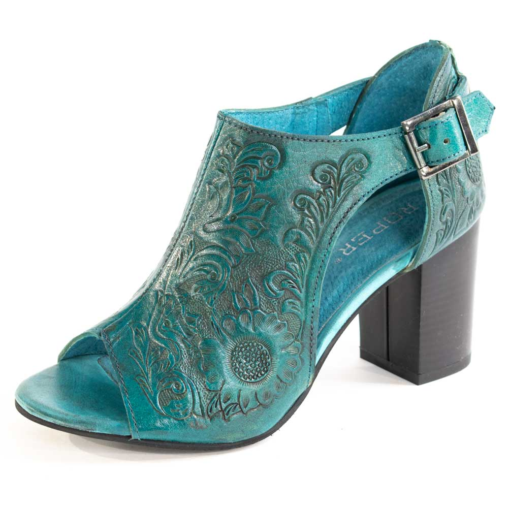 Roper Mika Mule - Turquoise WOMEN - Footwear - Heels & Wedges ROPER APPAREL & FOOTWEAR Teskeys