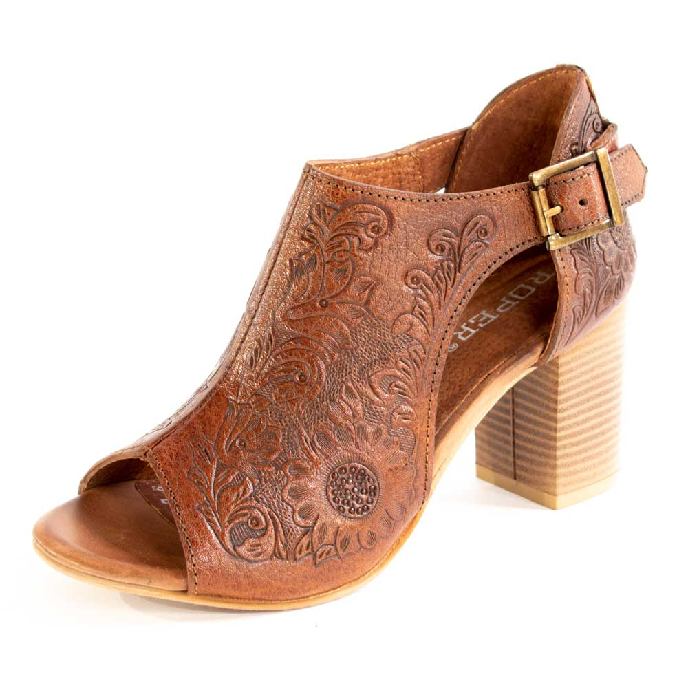 Roper Mika Mule - Tan WOMEN - Footwear - Heels & Wedges ROPER APPAREL & FOOTWEAR Teskeys