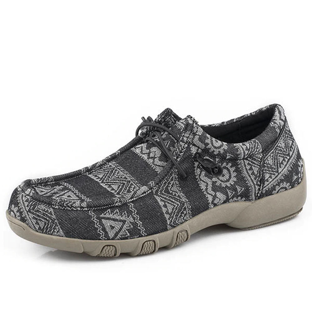 Roper Women's Black Aztec Chillin Driving Moc WOMEN - Footwear - Casuals ROPER APPAREL & FOOTWEAR Teskeys