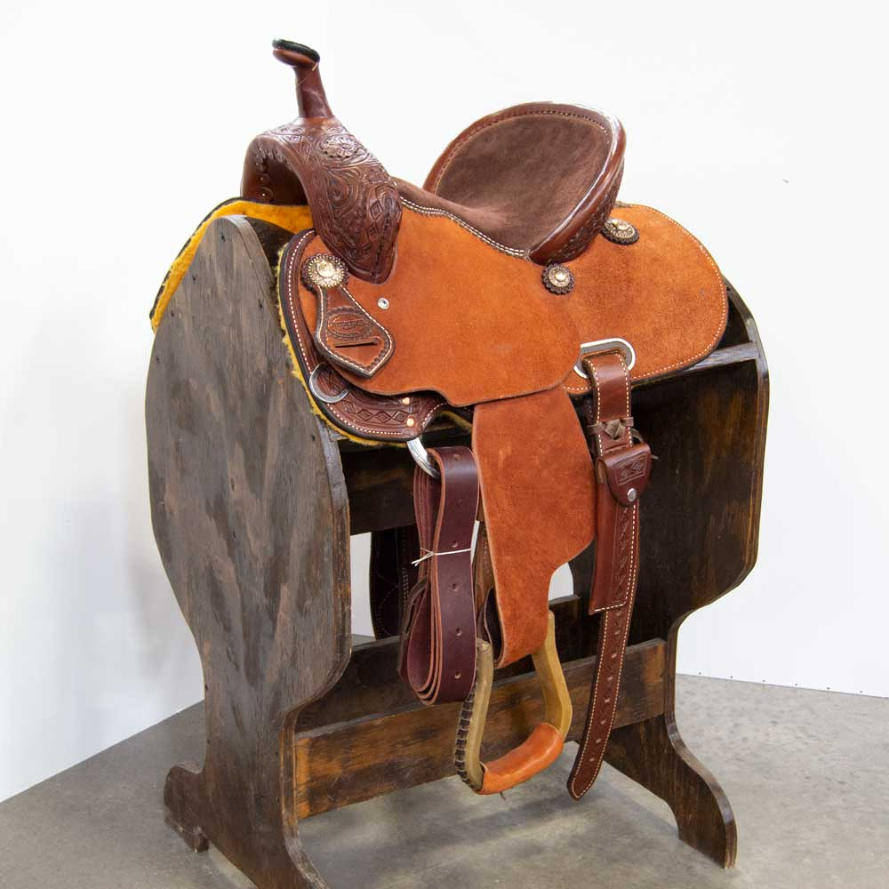 "12"" TESKEY'S YOUTH BARREL SADDLE Saddles - New Saddles - BARREL Teskey's Teskeys"