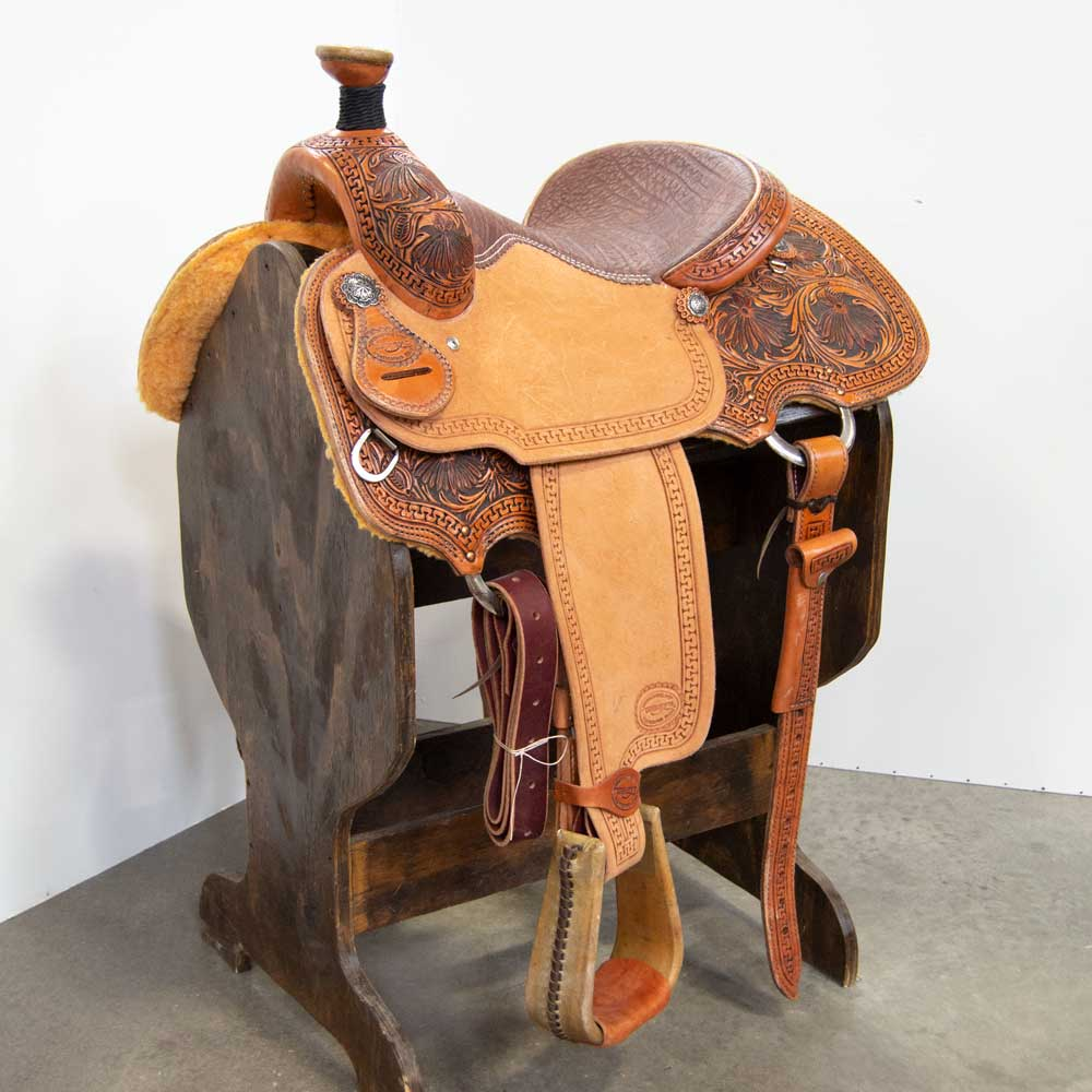"14"" TESKEY'S ROPING SADDLE Saddles - New Saddles - ROPER Teskey's Teskeys"