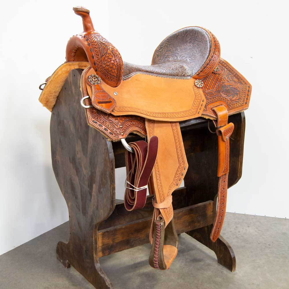 "16.5"" TESKEY'S BARREL SADDLE Saddles - New Saddles - BARREL Teskey's Teskeys"