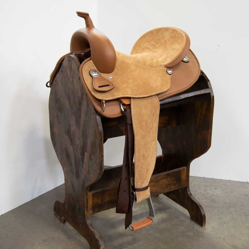 "14"" TESKEY'S BRAZILIAN BARREL SADDLE Saddles - New Saddles - BARREL Teskey's Teskeys"