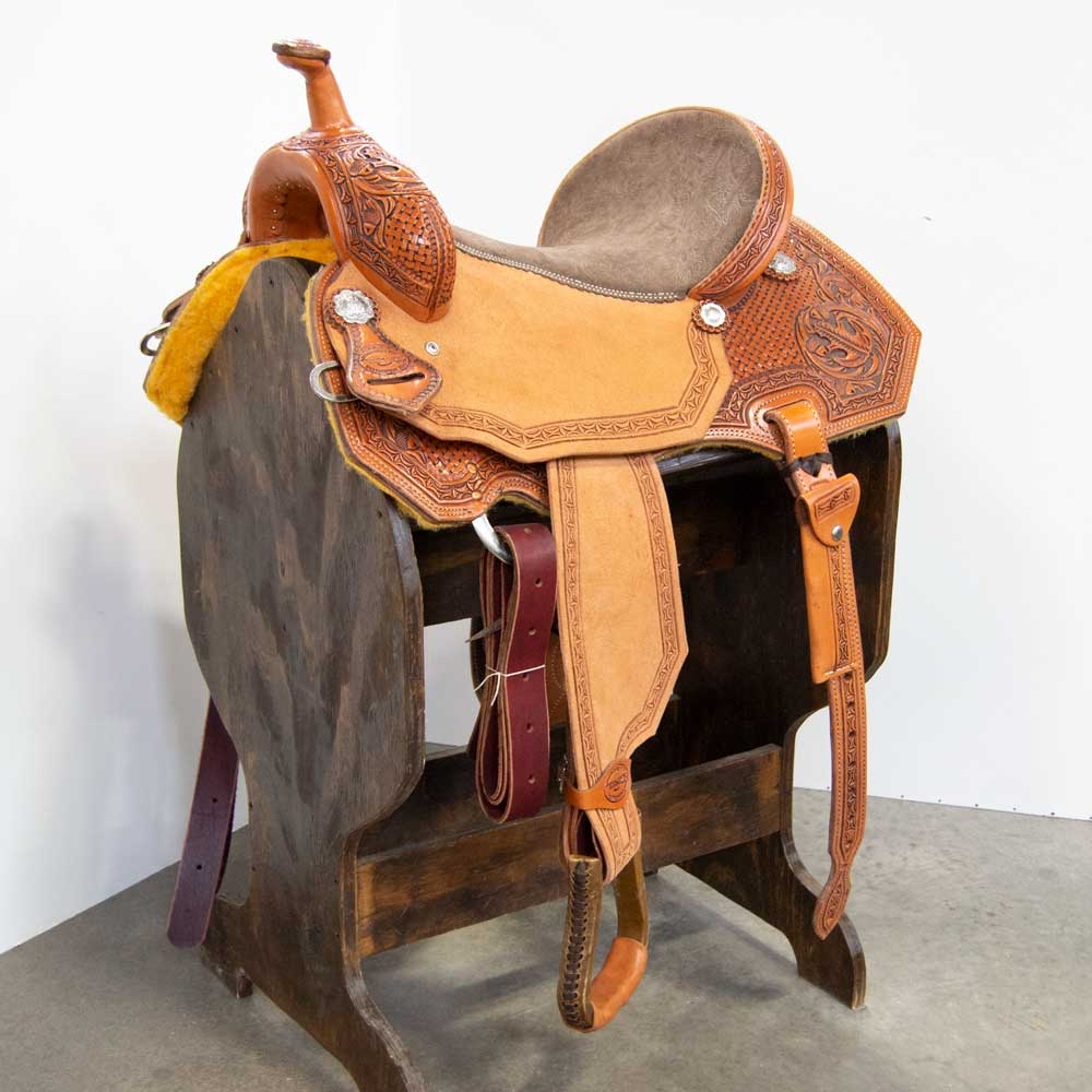 "15.5"" TESKEY'S BARREL SADDLE Saddles - New Saddles - BARREL Teskey's Teskeys"
