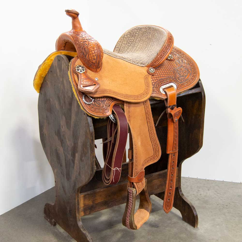 "13.5"" TESKEY'S BARREL SADDLE Saddles - New Saddles - BARREL Teskey's Teskeys"