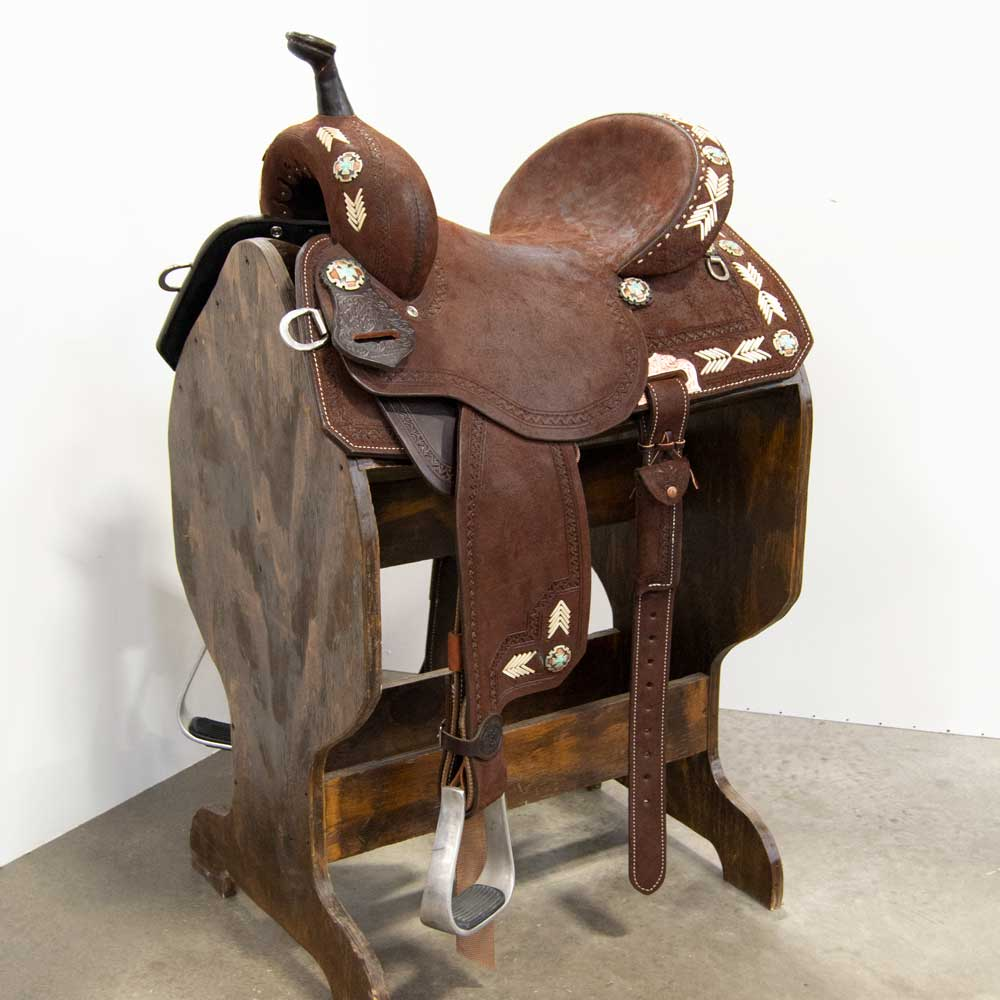 "13.5"" DOUBLE J BARREL SADDLE Saddles - New Saddles - BARREL DOUBLE J SADDLERY Teskeys"