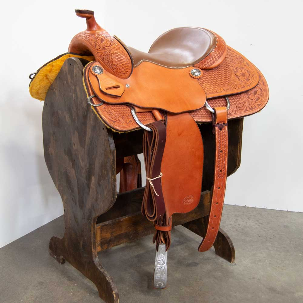 "15.5"" TESKEY'S REINING SADDLE Saddles - New Saddles - REINER Teskey's Teskeys"