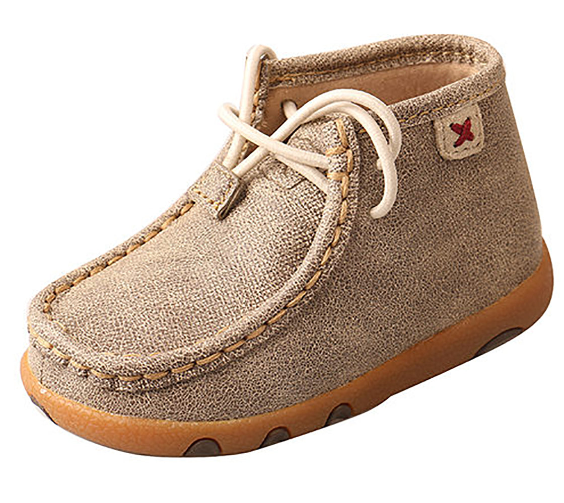 Twisted X Infant Dusty Tan Lace Up Driving Mocs KIDS - Baby - Baby Footwear TWISTED X Teskeys