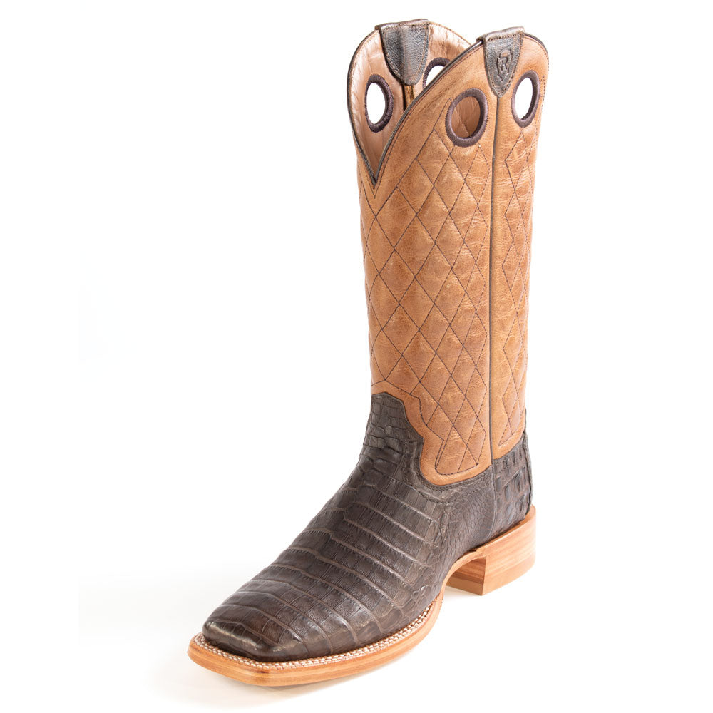 Ariat Relentless Winner's Circle Chocolate Caiman Belly Boot MEN - Footwear - Exotic Western Boots Ariat Footwear Teskeys