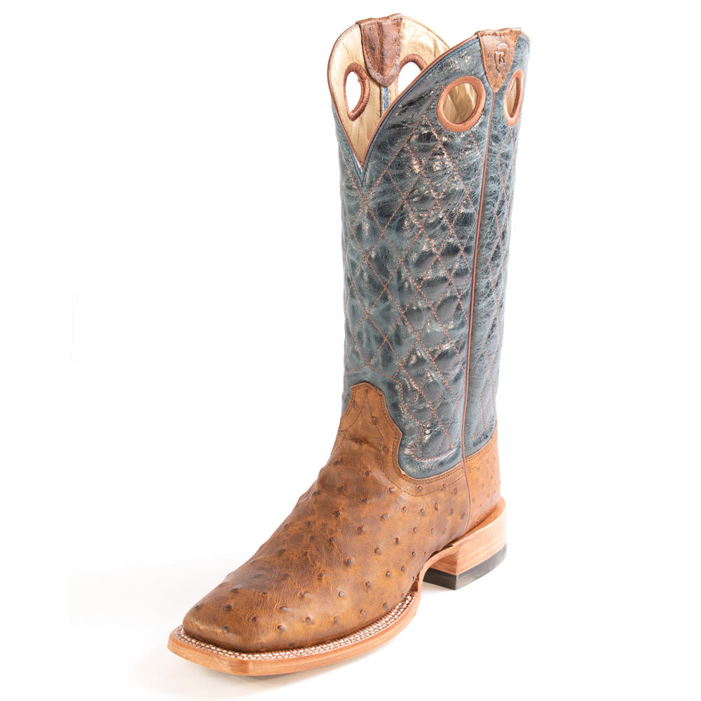 Ariat Relentless Victor FQ Ostrich Boot MEN - Footwear - Exotic Western Boots Ariat Footwear Teskeys
