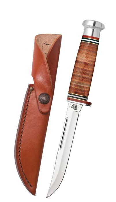 "Mushroom Cap Leather 5"" Utility Hunter with Leather Sheath Knives - Knives - Case Case Teskeys"