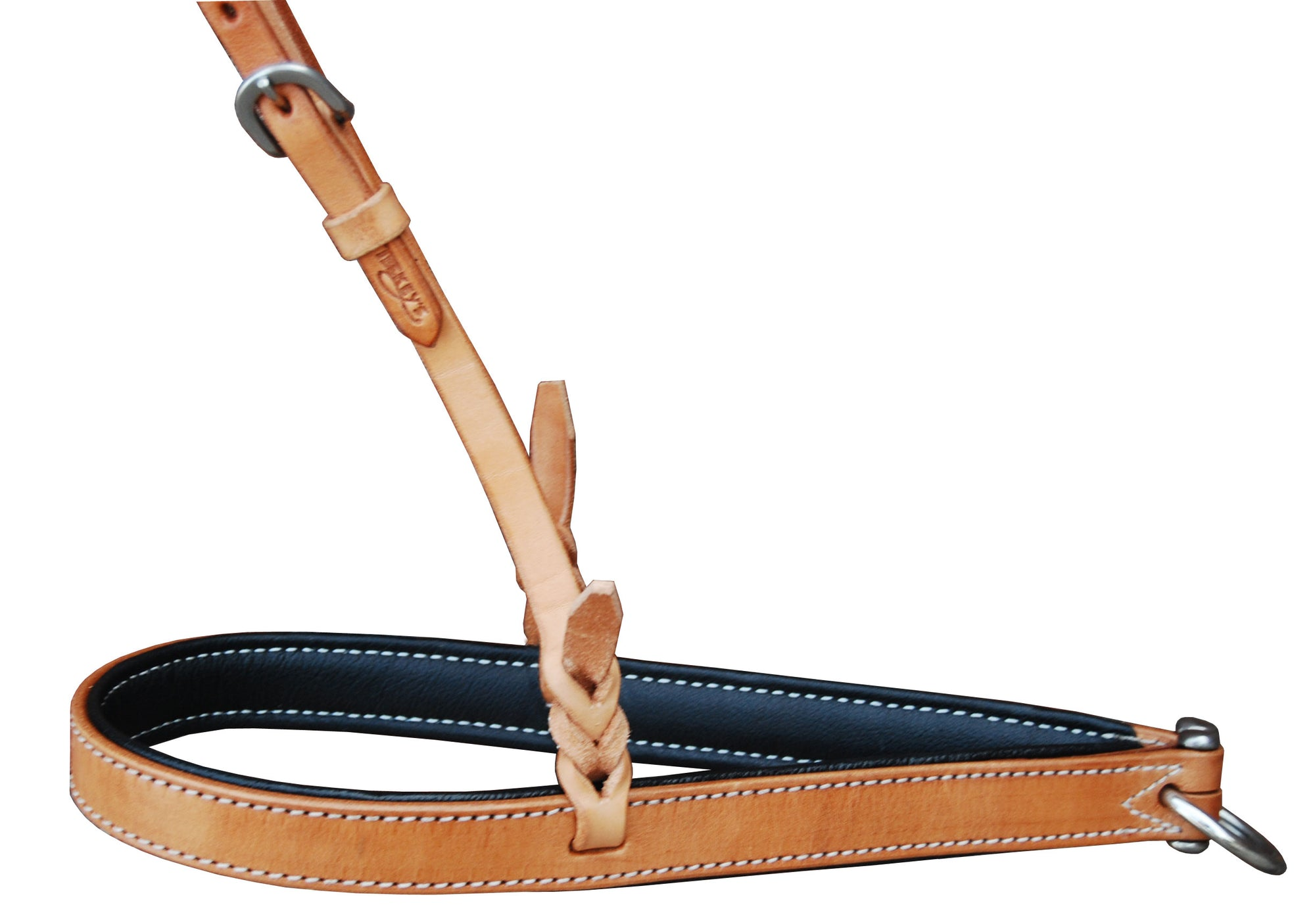 Teskey's Leather Noseband with Padding Tack - Nosebands & Tie Downs Teskeys Teskeys
