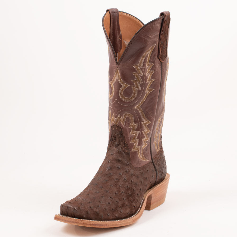Rios of Mercedes Ostrich Cigar Boot MEN - Footwear - Exotic Western Boots RIOS OF MERCEDES BOOT CO. Teskeys