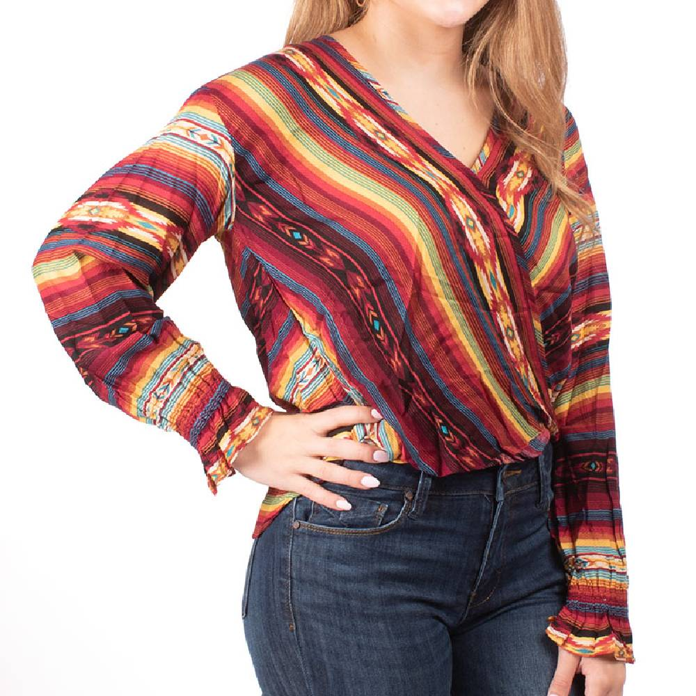 Stetson Serape Wrap Top WOMEN - Clothing - Tops - Long Sleeved STETSON Teskeys