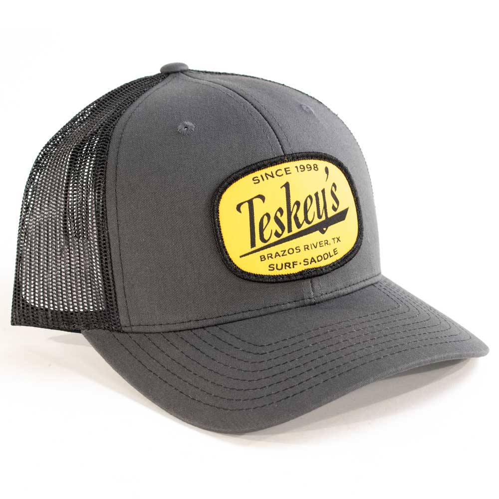 Teskey's Brazos River Cap - Charcoal/Black TESKEY'S GEAR - Baseball Caps RICHARDSON Teskeys
